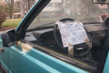 """""""Złodzieju zostaw te auto albo..."""""""