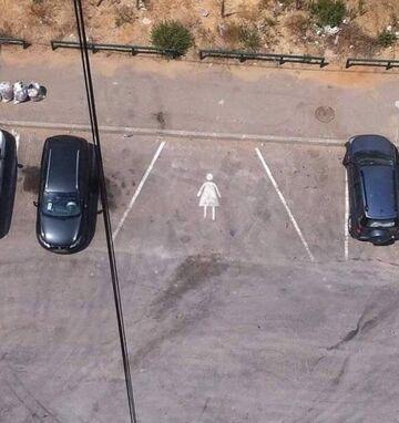 Miejsce parkingowe dla kobiet