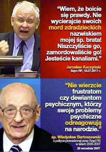 Jarosław Kaczyński vs.  śp. Władysław Bartoszewski