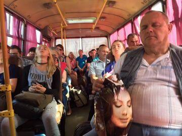 Takie tam, w autobusie