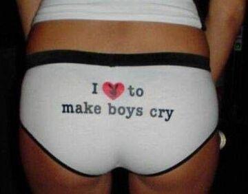 I love to make boys cry