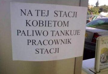 Na tej stacji kobietom paliwo...