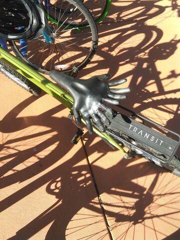 Fajne siodełko przy rowerze