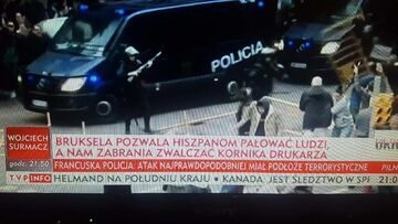 TVP: Bruksela pozwala Hiszpanom pałować ludzi, a nam zabrania zwalczać Kornika drukarza