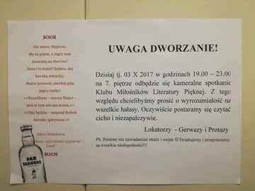 Spotkanie miłośników literatury na 7 piętrze