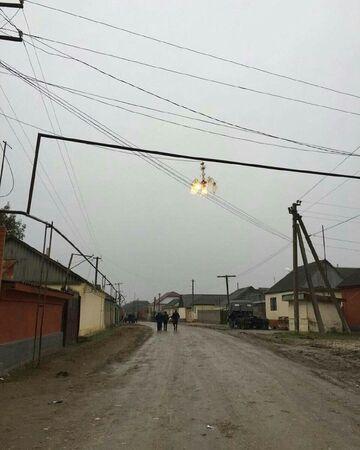 Oświetlenie na drodze w Rosji