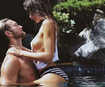Nieznajomy. Ostry sex na basenie