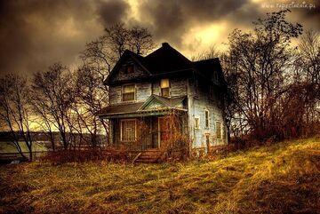 Dom w głębi lasu