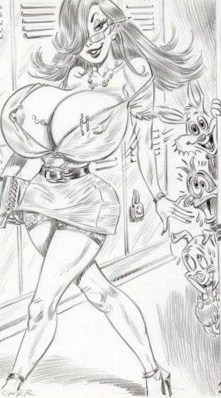 Belferka na korytarzu (rysunek)