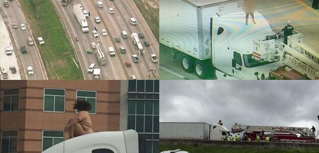 Naga kobieta na tirze i wypadek. Musieli zamknąć autostradę
