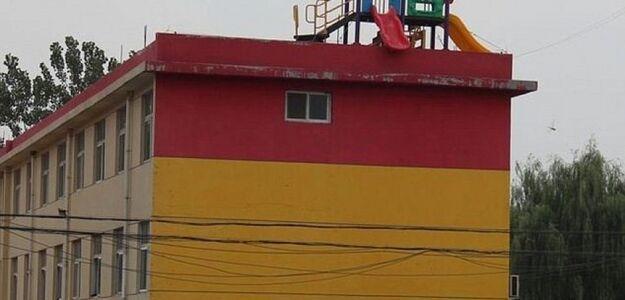 Zjeżdżalnia w Chinach dla dzieci wywołała oburzenie