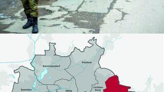Dla ochrony obywateli rosyjskich: Zamaskowani milicjanci anektują Berlin-Mahrzahn