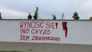Skandaliczny napis na murze szkoły specjalnej. Policja wszczęła śledztwo