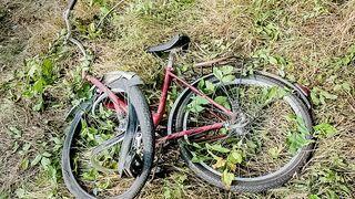 Pijany inwalida na wózku potrącił rowerzystę