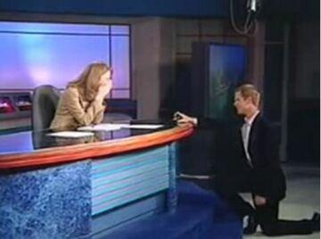 Prezenter pogody oświadczył się dziennikarce sportowej na antenie