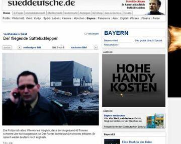 Latający TIR z Polski zadziwił niemiecką policję