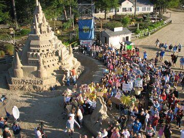 Zbudowany rekordowy zamek z piasku