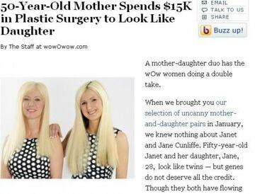 Matka i córka wyglądają jak siostry bliźniaczki