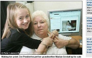 """10-latka wystawiła na eBayu swoją babcię. """"Żart. Babcia wiedziała"""""""