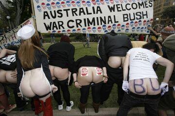 Pośladkami w Busha