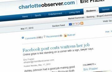 Kelnerka zwolniona za narzekanie na klientów na Facebooku