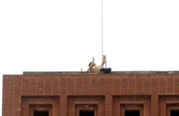 Miłosne igraszki studenta na dachu budynku