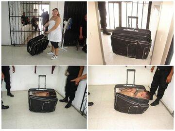 Chciał uciec z więzienia w walizce żony.