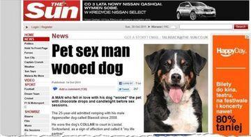 Uprawia seks z tym psem i jest z tego dumny!
