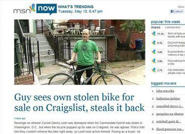 Upokorzył złodzieja rowerów i... leniwą policję.