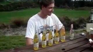 Efekt wypicia 6 małych piwek na raz