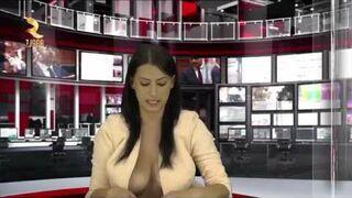 Wiadomości w albańskiej telewizji - 360° grade