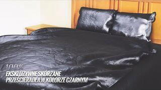 Reklama - Ekskluzywne skórzane prześcieradła w kolorze czarnym