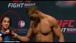 Reakcja statystki na rozbierających się do ważenia zawodników UFC
