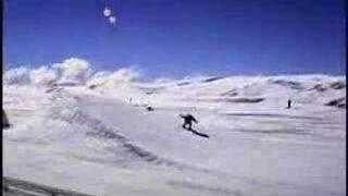 Snowboard vs samochód
