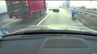 Nie chciał jechać za ciężarówką
