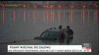 Lublin: Pijany mężczyzna wjechał do zalewu