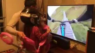 Najlepszy symulator jazy na rowerze - Ojciec roku!