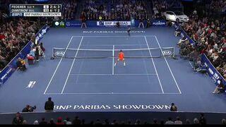 Tenisista Roger Federer ograny przez małolata