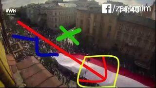 Wiadomości liczą manifestantów metodą Jacka Gmocha