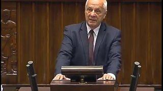 Poseł Stefan Niesiołowski daje czadu w sejmie