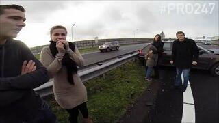 Nietypowe zachowanie Holenderskich policjantów przy wypadku