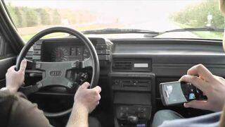 Niesamowite przyśpieszenie Audi 80 Quattro 20V Turbo GT40