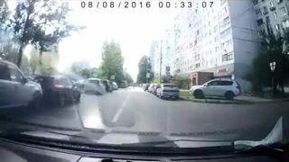 Eksplozja szambiarki na drodze w Rosji