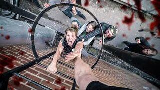 Ucieczka przed zombiakami z perspektywy pierwszej osoby