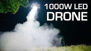 Lampa LED 1000W podczepiona do drona