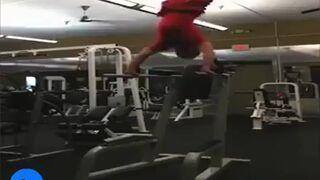 Kompilacja wypadków na siłowni