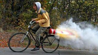 Rower z silnikiem na saletrę i cukier!