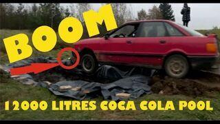 Stare Audi zanurzone w 12 tysiącach litrów Coca Coli