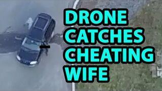 Przyłapał dronem żonę na zdradzie