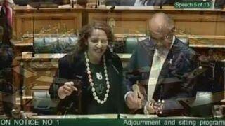 Świąteczny klimat w parlamencie Nowej Zelandii